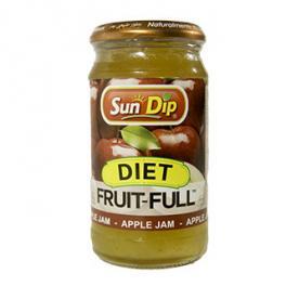SUNDIP Assorted Jam Apple SUGAR FREE (Glass Jar)